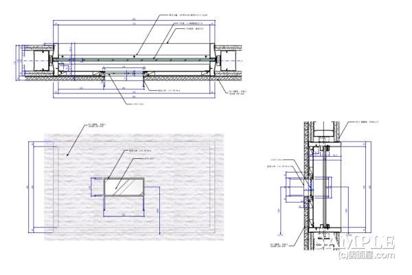 マジックミラーを使用したのぞき窓の詳細図