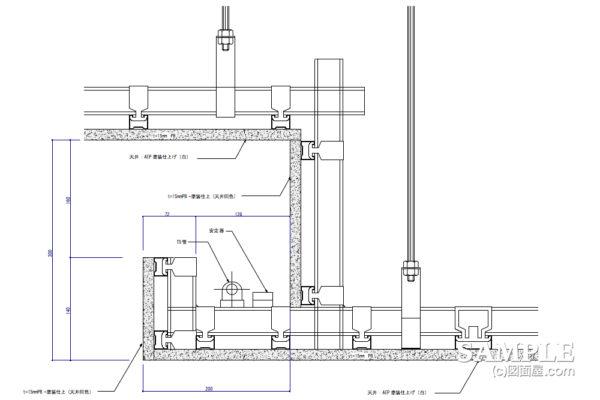 天井間接照明造作の詳細図事例