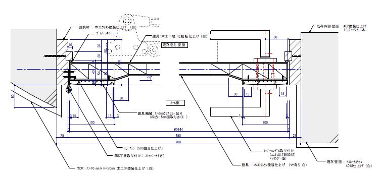 面取りミラー貼り建具02