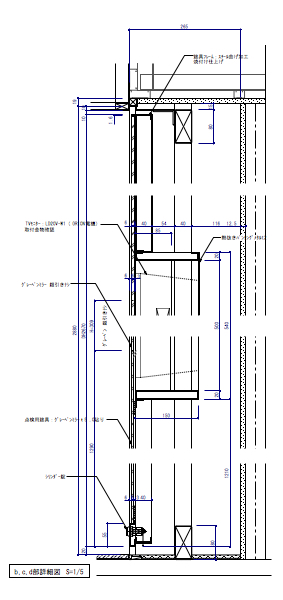 モニター埋設のミラー建具03