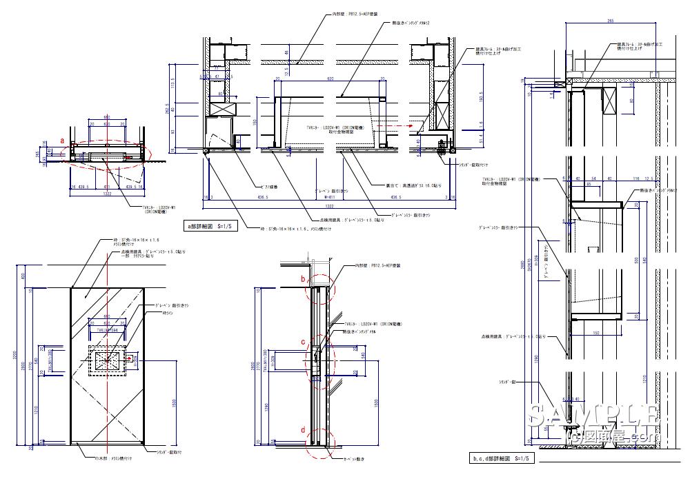 モニター埋設のミラー建具