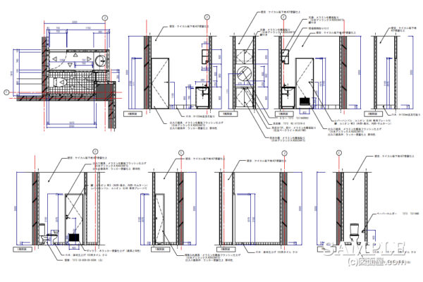 省スペース化を実現したトイレの図面事例