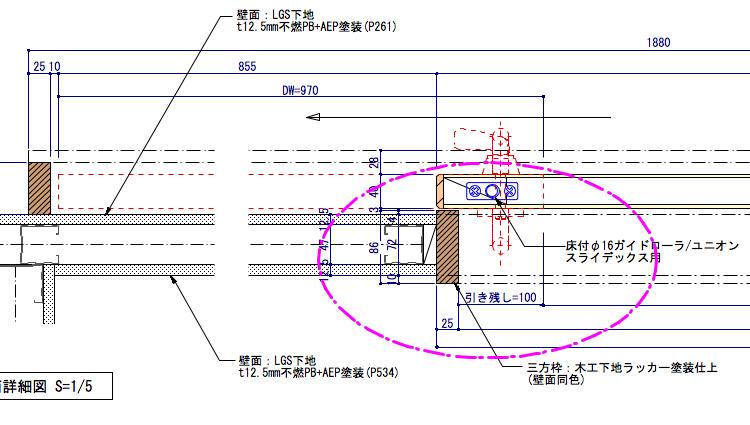 遮音仕様の木製引き戸03