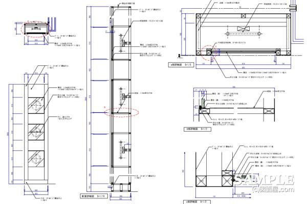 ファサードゲート柱の行灯サイン事例