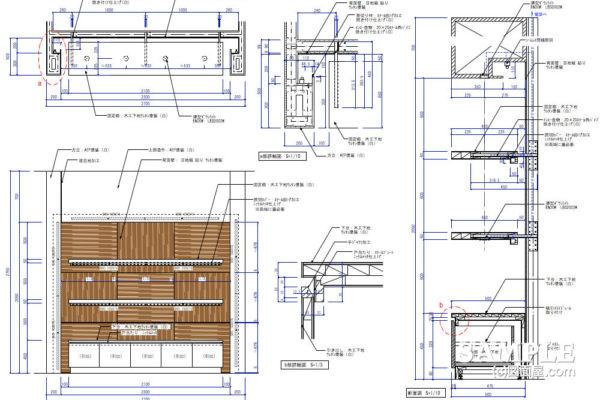 間接照明が際立つニッチ壁面什器の作図事例