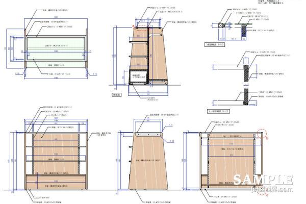 キッズ売り場の基本什器の作図事例