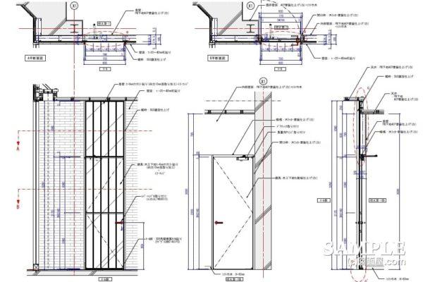 建具と壁面を一体化した意匠作図とミラー貼り建具について