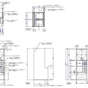 脱衣室の収納什器の図面事例