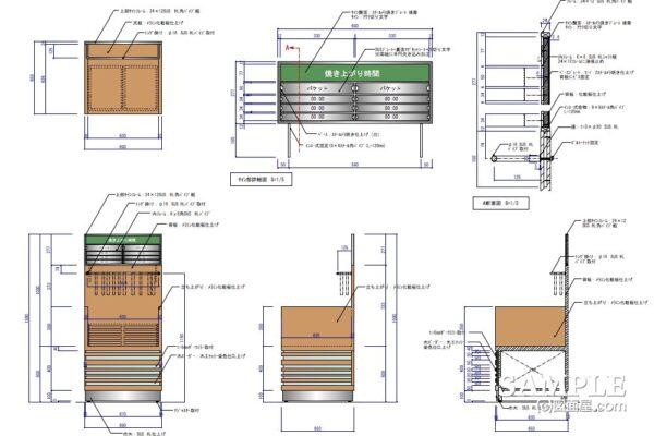 ベーカリーショップではお馴染みのトング台の作図事例