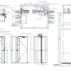 遮音対策した建具の作図事例