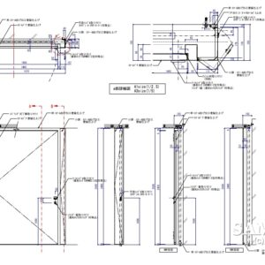 パイプシャッター収納に設置したメンテナンス用のスチールドア